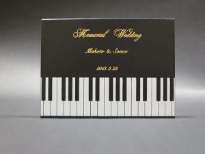 DVDケースピアノ版に箔押し