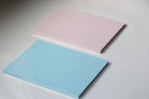 桃色と空色のディスクケース